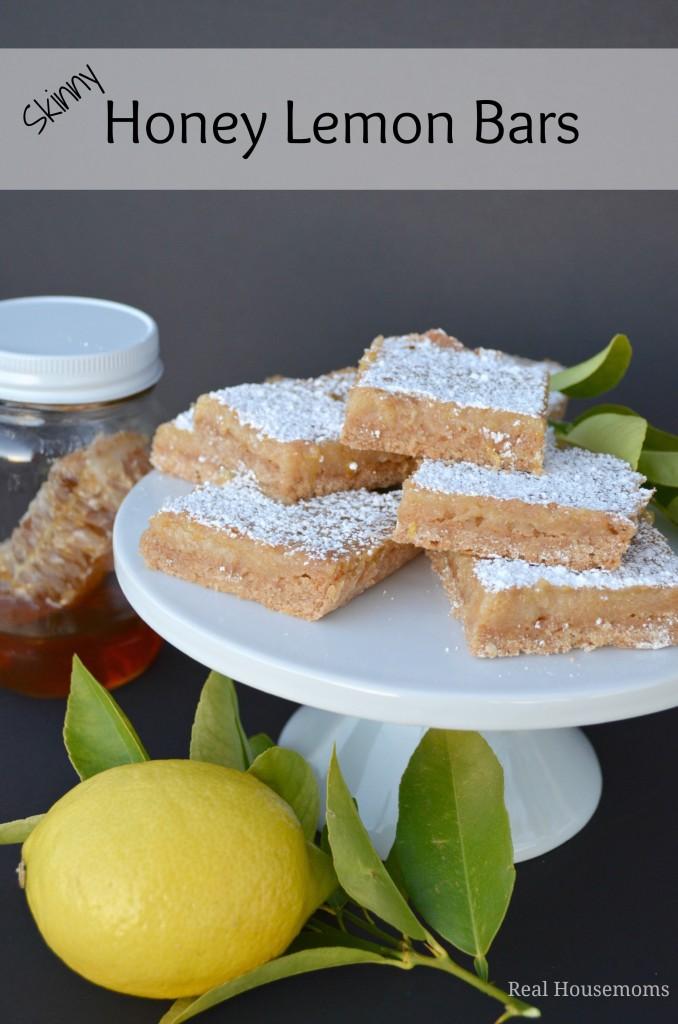 Skinny Honey Lemon Bars | Real Housemoms #dessert #lemonbars