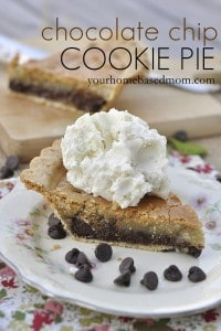 chocolate chip cookie pie | Your Homebase Mom