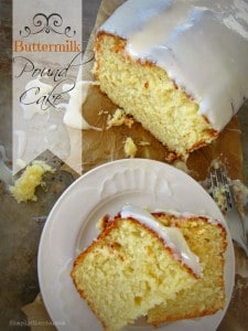 Buttermilk Pound Cake with Cream Cheese Glaze by Simply Gloria