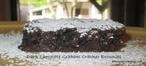 Dark Chocolate Graham Cracker Brownies from Recipes for My Boys
