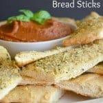 Easy Peasey Pizza Dough Bread Sticks   Real Housemoms #Pizza #pizzadough #breadsticks