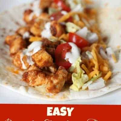 EASY Ranch Chicken Tacos