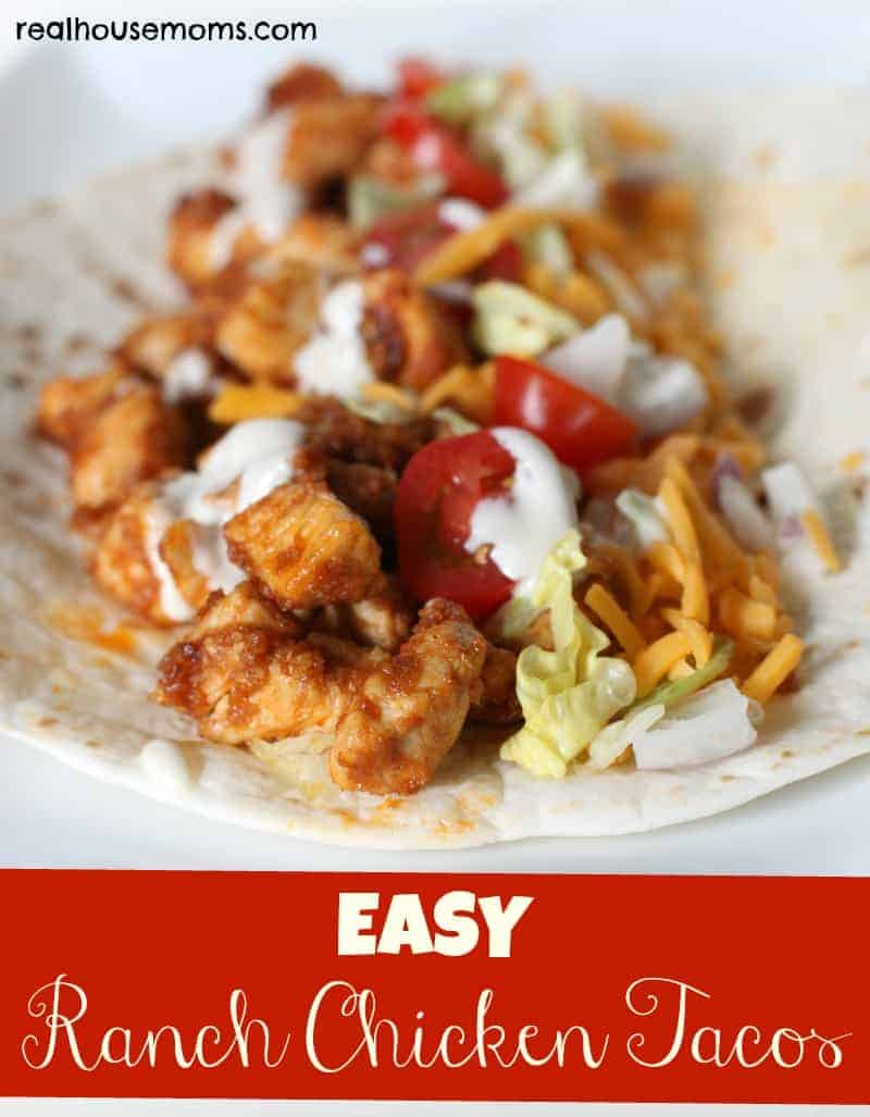 Easy ranch chicken tacos for Easy ranch
