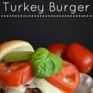 Garden Fresh Caprese Turkey Burger