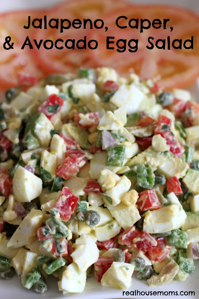 Jalapeno, Caper, and Avocado Egg Salad | Real Housemoms