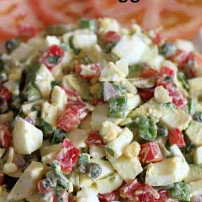 Jalapeno, Caper, and Avocado Egg Salad