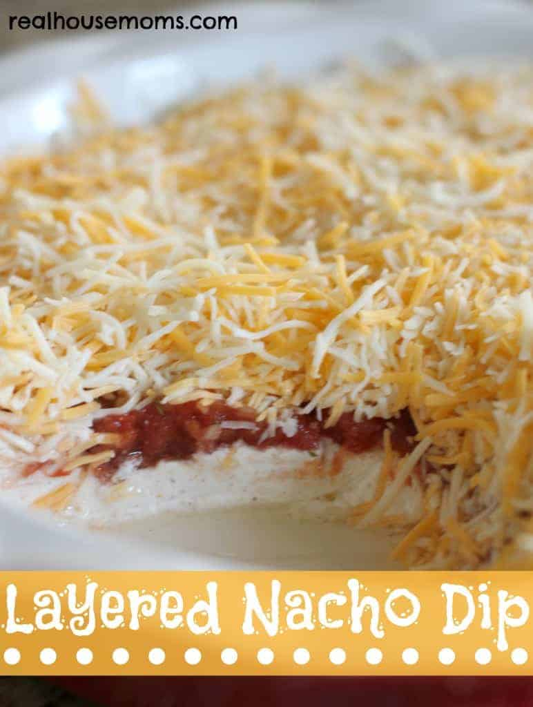 layered taco dip with cream cheese