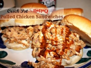 Crock Pot BBQ Pulled Pulled Chicken Sandwich from Anyonita Nibbles