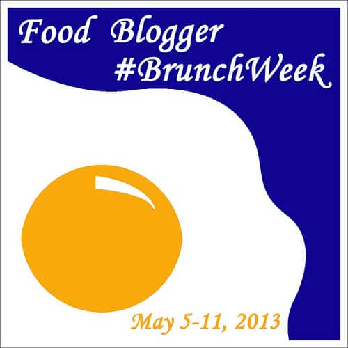"Graphic that reads ""food blogger #branchweek"" photo of egg in background"