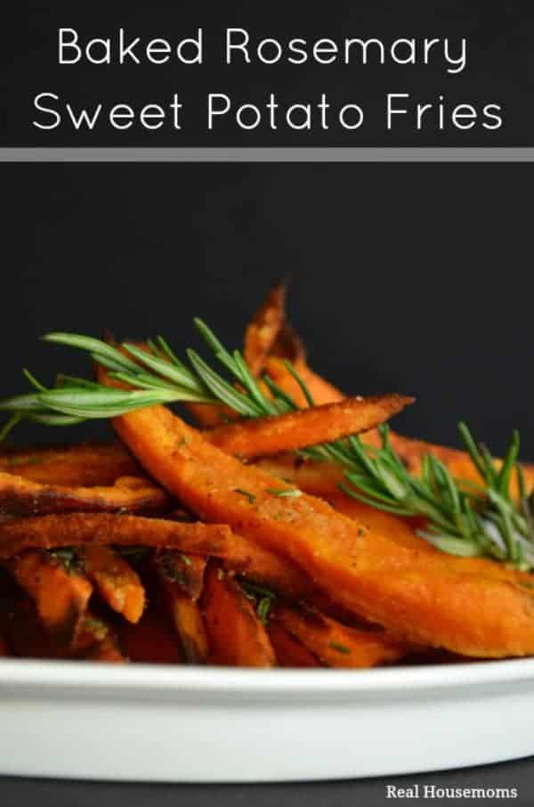 Baked Rosemary Sweet Potato Fries | Real Housemoms