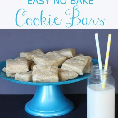 EASY NO BAKE Cookie Bars