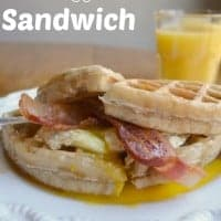 Bacon Egg and Waffle Sandwich