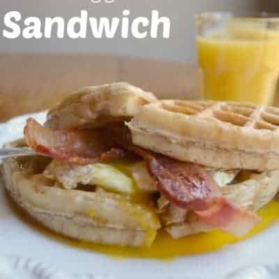 Bacon, Egg & Waffle Sandwich