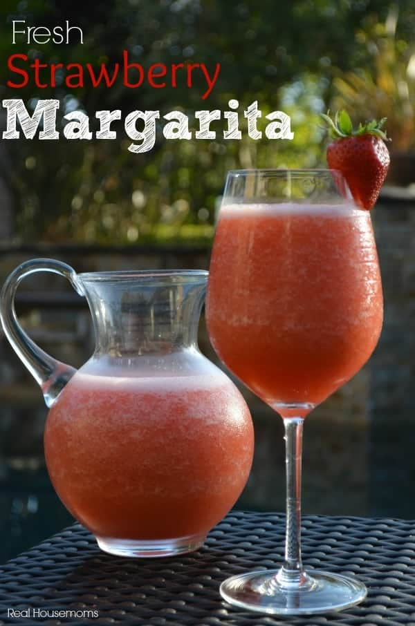 Fresh Strawberry Margarita | Real Housemoms