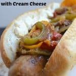 Italian Sausage Sandwich with Cream Cheese