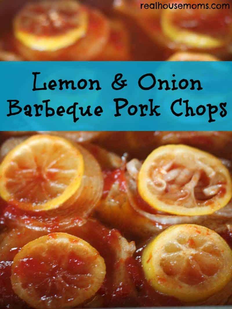 lemon & onion barbeque pork chops