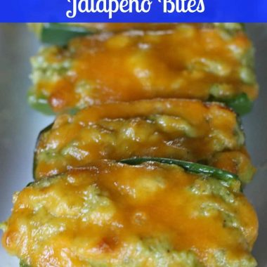 baked shrimp & pesto jalapeno bites topped with melted cheese