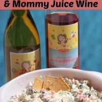 Skinny Veggie Dip & Mommy Juice Wine