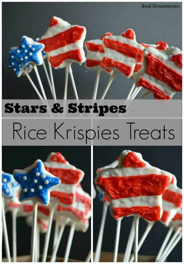 Stars and Stripes Rice Krispies Treats  realhousemoms