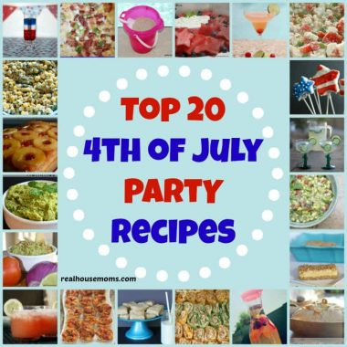 Collage of 20 fouth of July party recipes