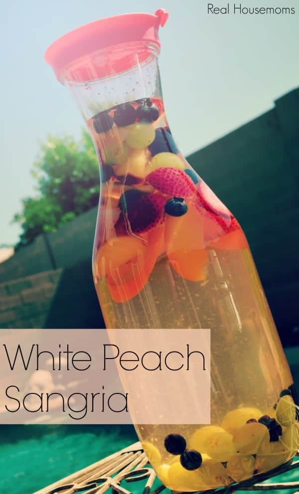 White Peach Sangria | Real Housemoms