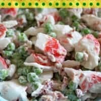 Crab, Pea, and Bacon Salad