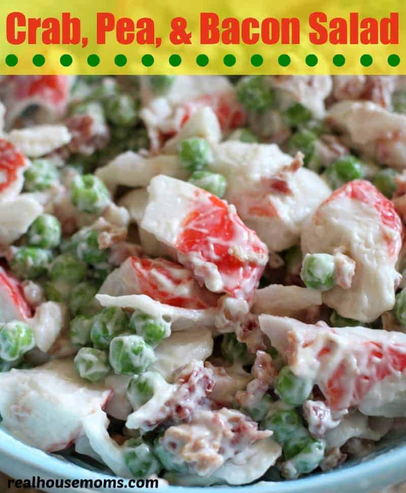 crab, pea and bacon salad