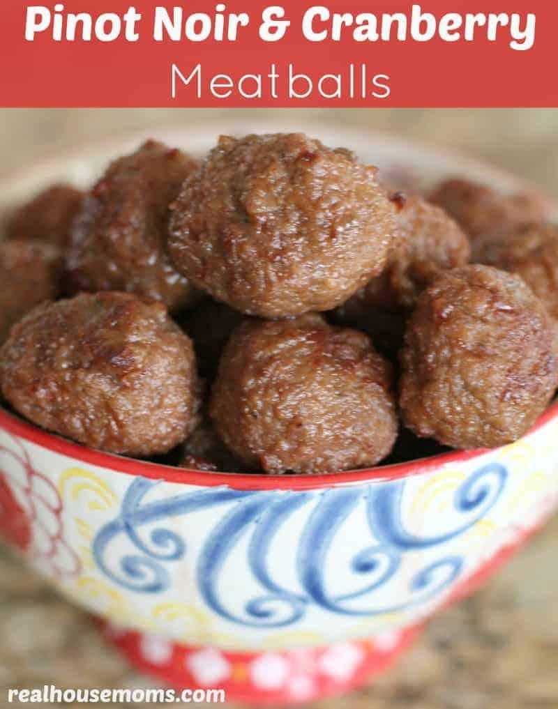Pinot Noir & Cranberry Meatballs
