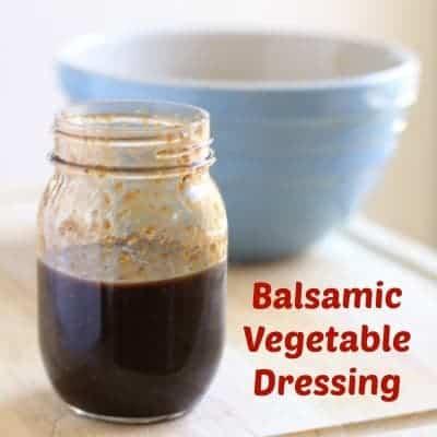 Balsamic Vegetable Dressing