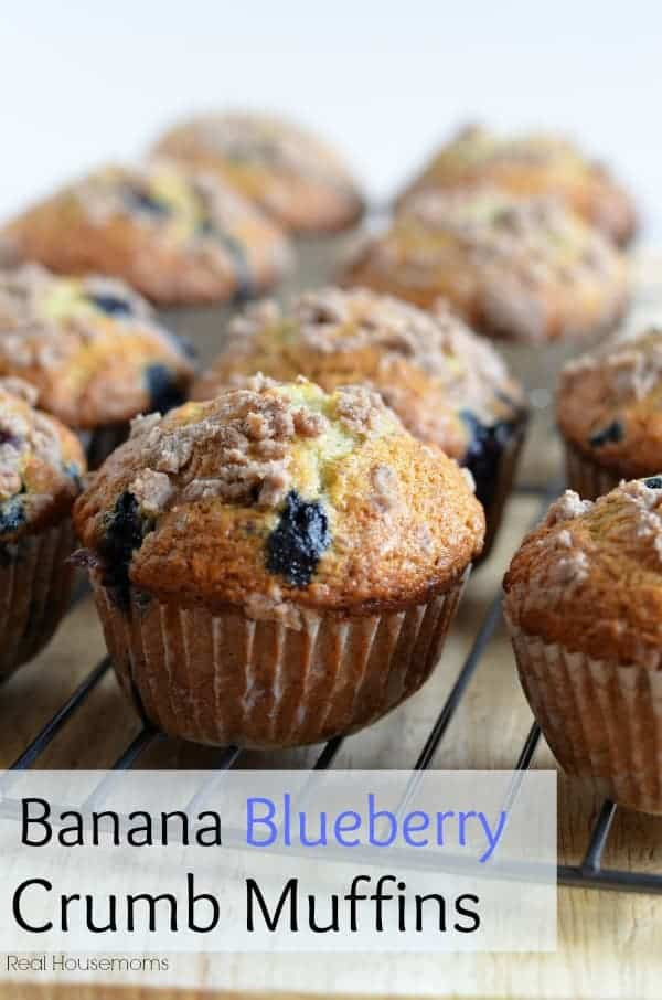 Banana Blueberry Crumb Muffins Real Hosuemoms