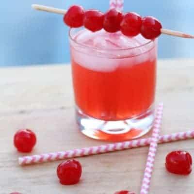 Cherry Poke Cake Cocktail