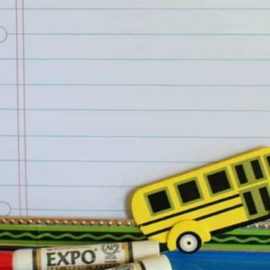 Dry erase fram back to school