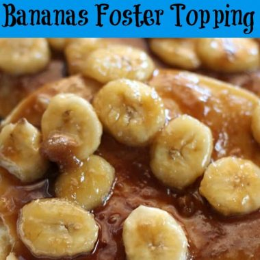 bananas foster topping