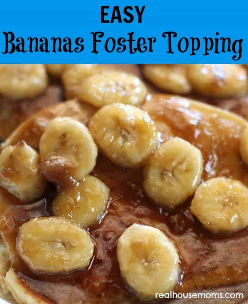 bananas foster topping