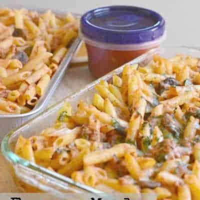 Baked Italian Penne {Freezer Meals}  #BacktoSchool