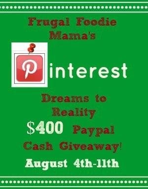 Dreams to Reality $400 Giveaway