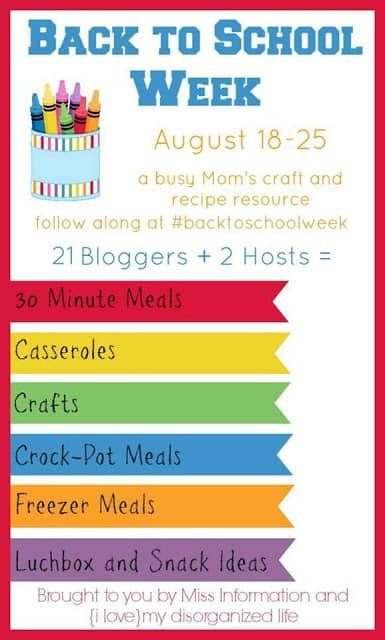 Back to school week, Recipe resource graphic