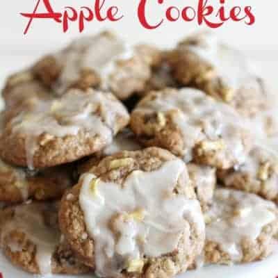 Glazed Apple Cookies