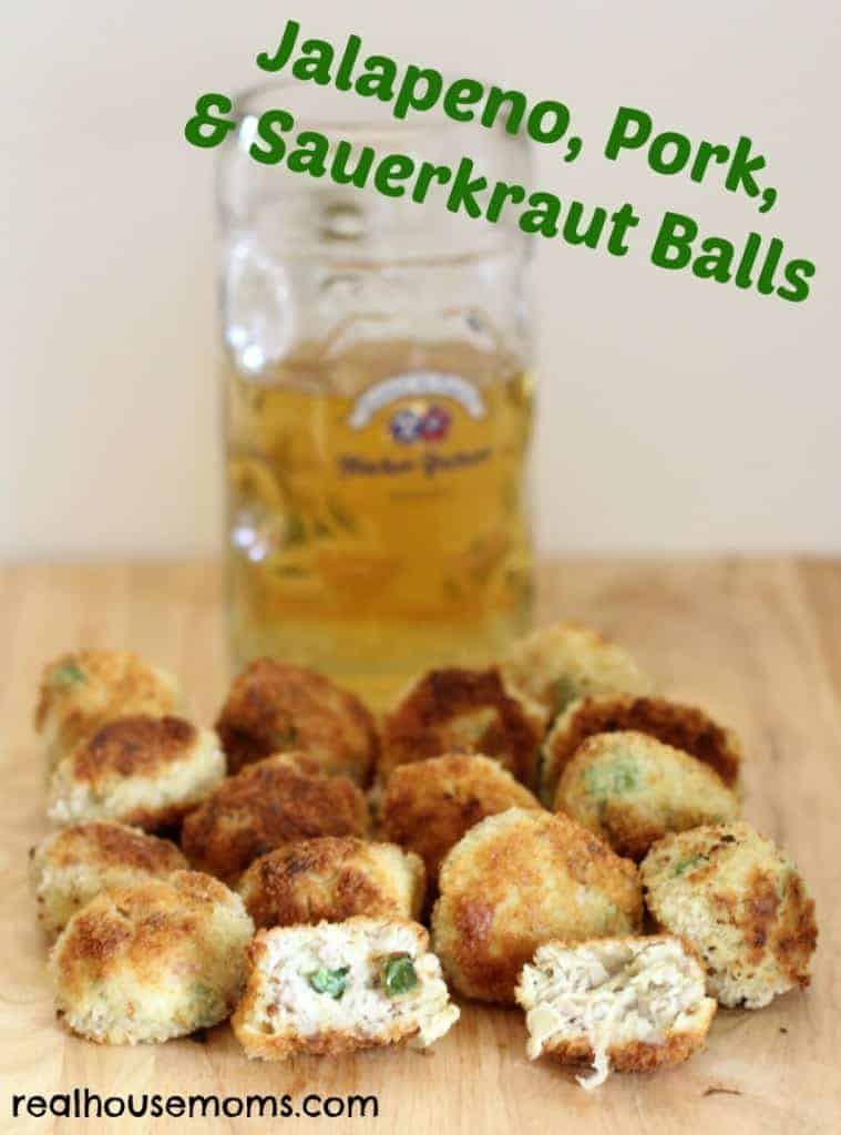 Jalapeno, Pork, and Sauerkraut Balls