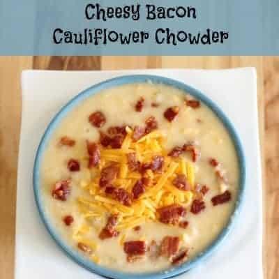Low Carb Cheesy Bacon Cauliflower Chowder