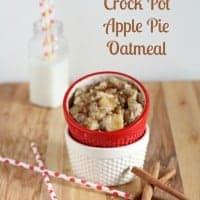 {Overnight} Crock Pot Apple Pie Oatmeal 4