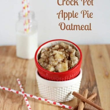 Crockpot apple pie oatmeal in a ramekin