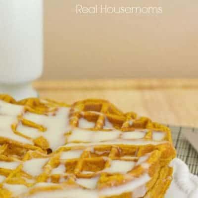 Pumpkin Spice Waffles w/ Cream Cheese Glaze