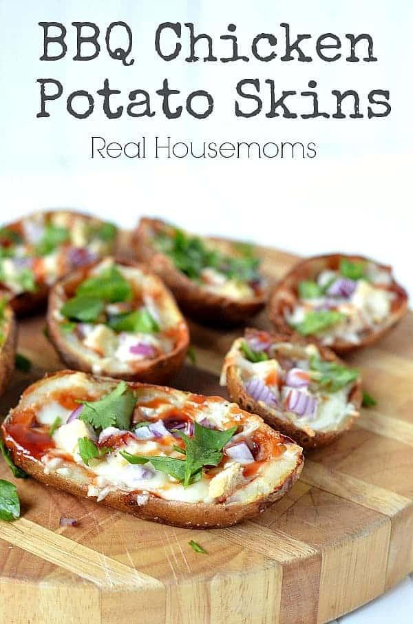 BBQ Chicken Potato Skins | Real Housemoms