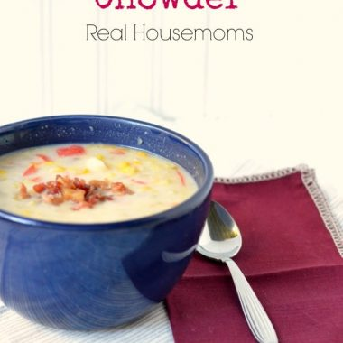 bacon and corn chowder in a bowl