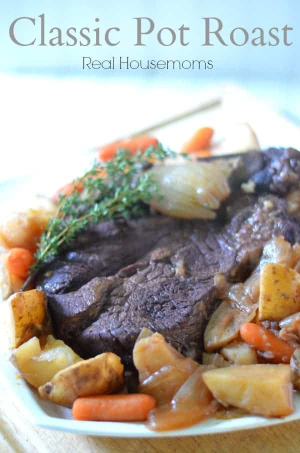 Classic Pot Roast | Real Housemoms | This is my favorite family dinner!
