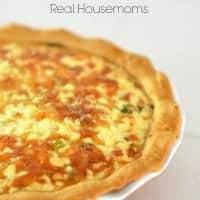 Mushroom Sausage Swiss Quiche_Real Housemoms