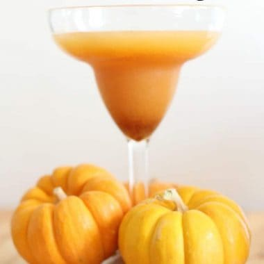 pumpkin spice margarita in stemmed glass