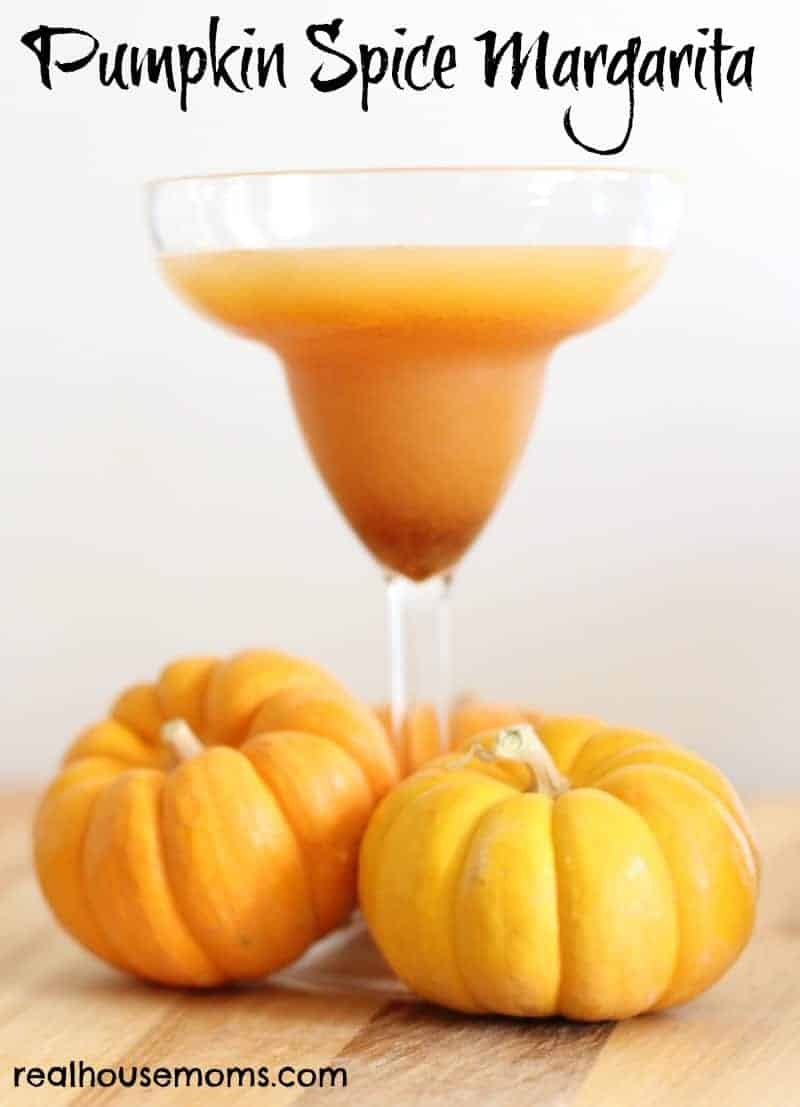 pumpkin spice margarita in stemmed glass
