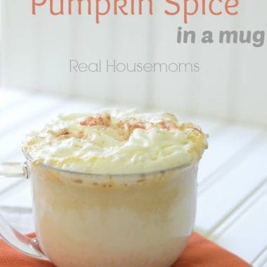 Spiked Warm Pumpkin Spice in a mug
